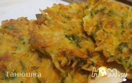 Морковно-картофельные оладьи