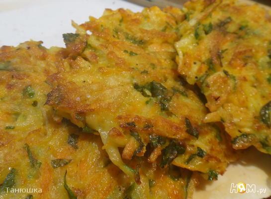 Рецепт Морковно-картофельные оладьи