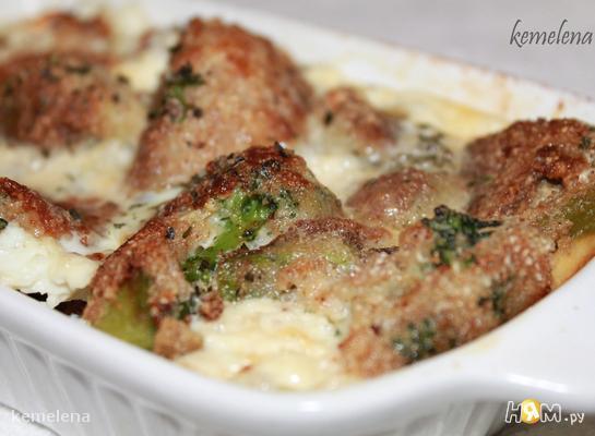 Рецепт Запеченные брокколи в панировке