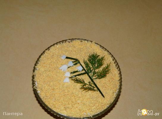 Рецепт Салат с печенью трески и сыром
