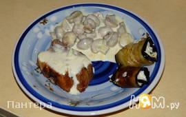 Грибы в сливочно-сырной подливке