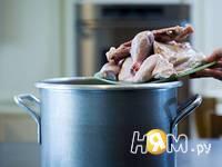 Приготовление спагетти с курицей: шаг 4