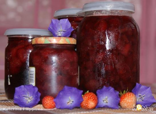 Рецепт Варенье из клубники и ревеня