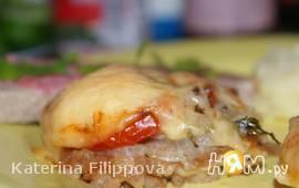 Свинина в кляре, запеченная в духовке под сыром