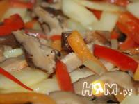 Приготовление куриного филе с овощами в соусе: шаг 10