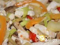 Приготовление куриного филе с овощами в соусе: шаг 12