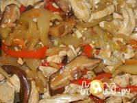 Приготовление куриного филе с овощами в соусе: шаг 14