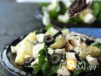 Приготовление салата из курицы и шпината: шаг 3
