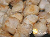 Приготовление супа со свининой и яблоками: шаг 1