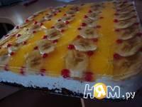 Приготовление бисквитного торта Клубничка: шаг 8