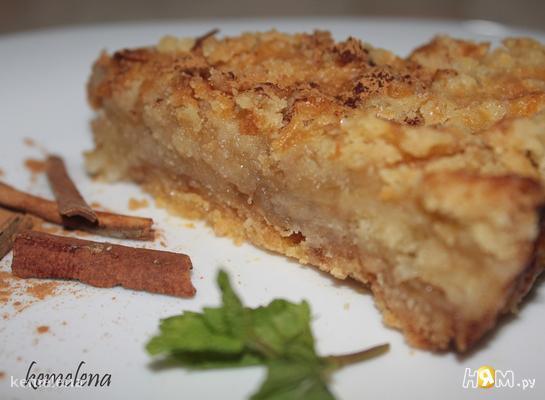 Рецепт Насыпной яблочный пирог (вариант 1)
