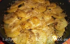 Картофель, запечённый с сыром