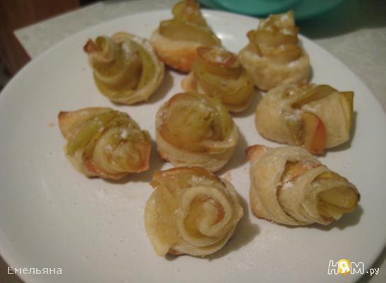 Рецепт Розочки с яблоками