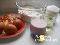 Приготовление кекса-бисквита на йогурте: шаг 1