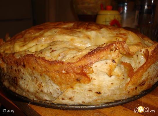 Ленивец - пирог из лаваша