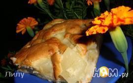 Пирог с яблоками и дыней