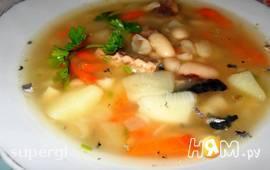 Суп фасолевый с рыбными консервами