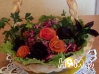 Приготовление корзинки с салатом: шаг 10