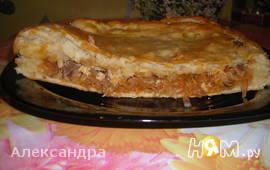 Пирог с капустой и курицей