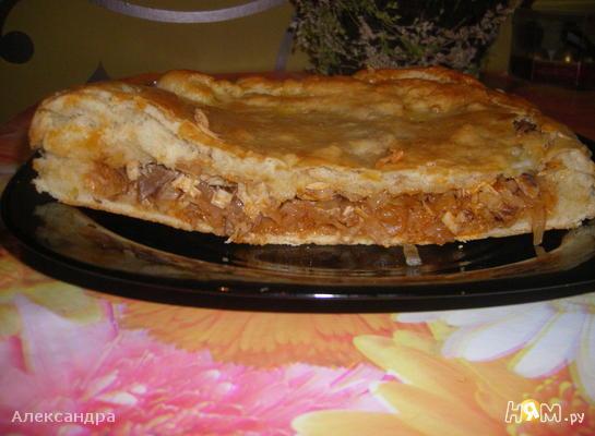 Рецепт Пирог с капустой и курицей
