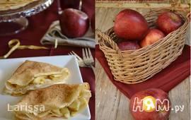 Блины с карамельными яблоками