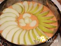 Приготовление тыквенного пирога с яблоками: шаг 5