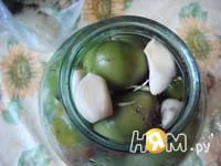 Приготовление маринованных зеленых помидор: шаг 3