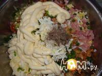 Приготовление салата Пенек: шаг 5
