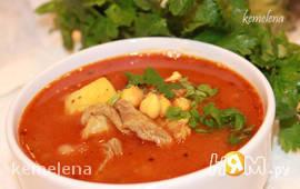 Chorba homos - шорба хумус - суп из нута