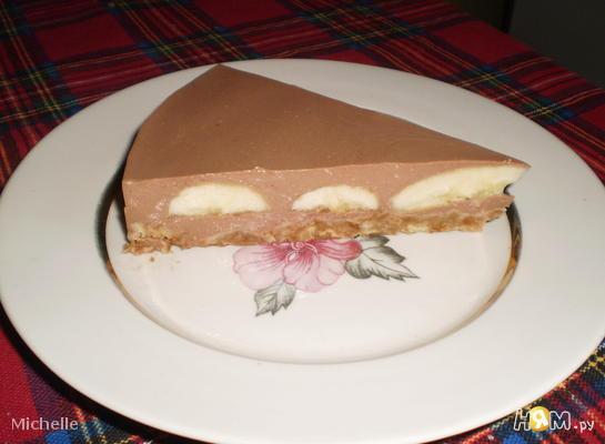 торт без выпечки рецепт с фото шоколадно банановый