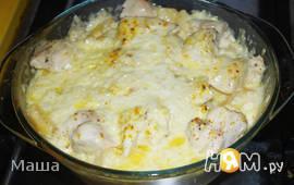 Курица запеченная на картофеле