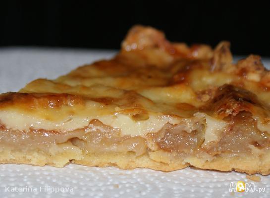 Рецепт Яблочная кростата с сыром Чеддер