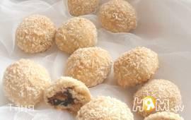 Кокосовое печенье с начинкой