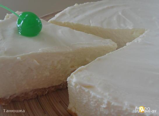 Застывший творожный торт