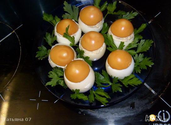 """фаршированные яйца """"Грибочки"""""""