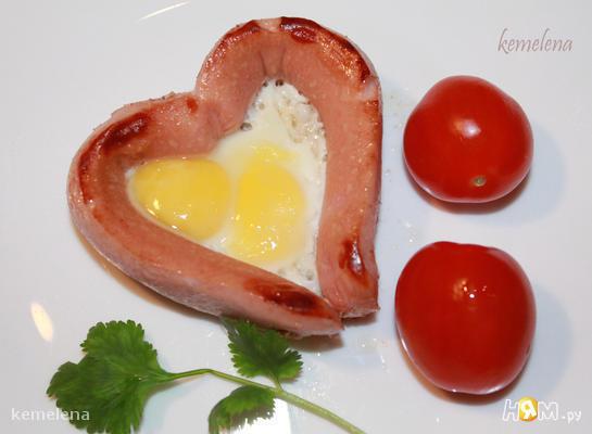 "Яичница с сосиской ""Breakfast for you"""