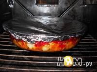 Приготовление рыбы под овощами: шаг 9