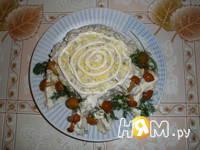 Приготовление салата Пенёк с печенью: шаг 1