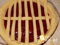 Приготовление пирога-решетки с малиной: шаг 11