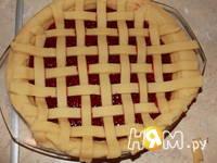 Приготовление пирога-решетки с малиной: шаг 16