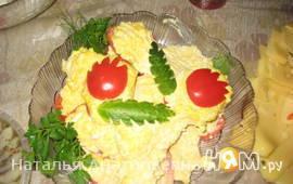 Помидоры с сыром,чесноком и майонезом