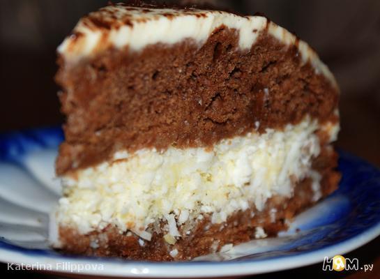 """Медово-имбирный торт """"Кокосомания"""""""