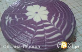 Чернично-творожный торт