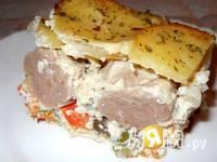 Приготовление запеканки картофельной с фрикадельками: шаг 10