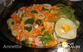 Сёмга с мандарином и овощами