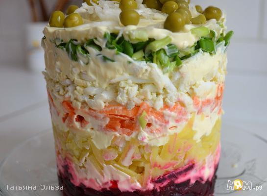 рецепты салат слоеные с фотографиями