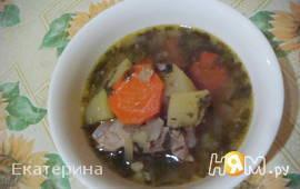 Ребрышки с овощами и черносливом