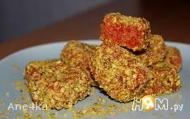 Конфеты из сушеного кизила с миндалем