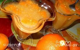 Апельсиновое пряное желе с мандаринами