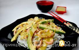 "Салат ""Эби авокадо"" (по мотивам японской кухни)"